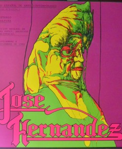 Hernandez José, Cartel litográfico original realizado para el Museo Español de Arte Contemporáneo, diseñado por Nicolás Gless, 1982. 75,5X73 cm (2)