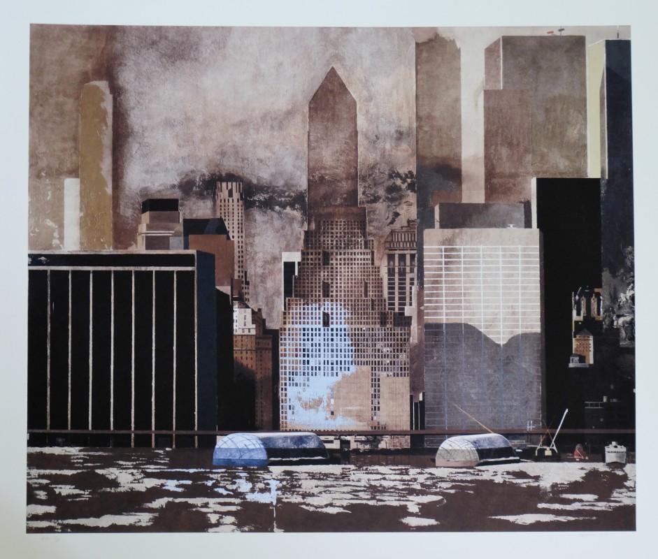 Castillo Jorge 2013 Urban Landscapes New York City Wall Street II, original pigment ink print, edición 10 ej. num y firmado lápiz, 94×110 cms. (14)