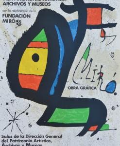 Joan Miró, cartel litográfico Ministerio de Cultura