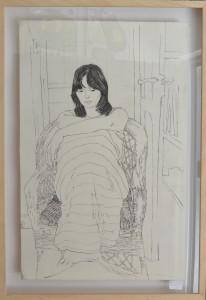 Bellver Fernando, Geli sentada, grabado aguafuerte, enmarcado, 86x61 cms. 550 (9)
