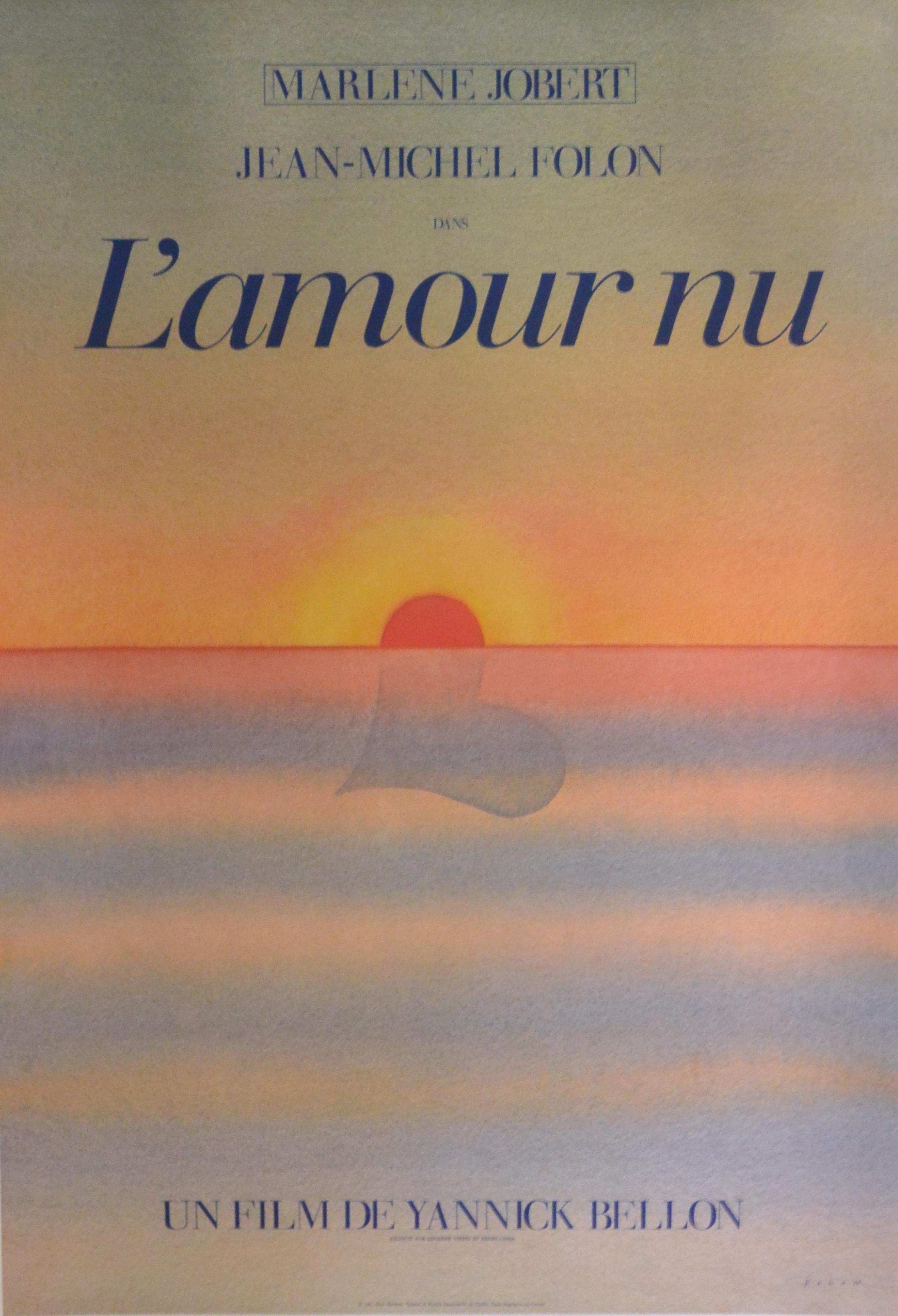 Jean Michel Folon Lamour Nu Cartel Original