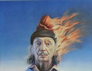 Gottfried Helnwein , cartel original, Salvador Dalí. 59x77 cms
