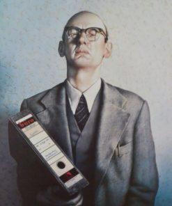 Gottfried Helnwein , cartel original, burócrata. 83x59 cms