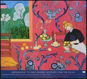 Matisse Henri, Harmony in red, cartel original exposición en el Metropolitan Museum New York en 1.986. enmarcado 77x84 cms (4)