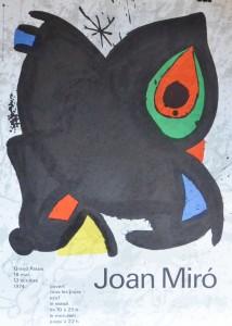 Miró Joan cartel original exposición el el Grand Palais Paris en 1.974. impresión litográfica. 60x43 cms (3)