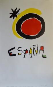 Miró Joan cartel original promoción marca España. 100x62 cms (2)