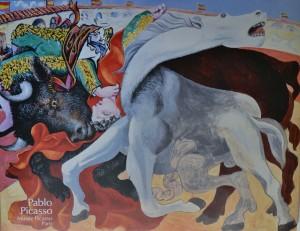 Picasso Pablo cartel original Musée Picasso París. la muerte del torero, 54x70 cms (3)