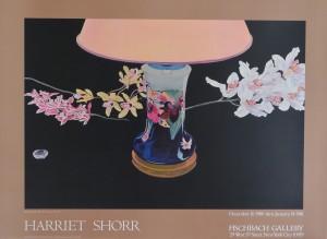 Shorr Harriet, Black Orchids. 84x63 cms. Cartel original exposición en Fischbach Gallery en 1 (1)