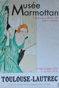 Toulouse-Lautrec Henri de, cartel original exposición Musée Marmottan en 1.975, 61x41 cms 40 (2)