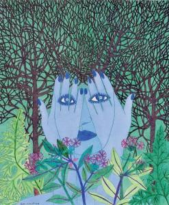 """Pilar Coomonte - """"Presencia azul en el bosque"""""""