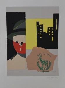 Arroyo Eduardo, serigrafía, numerada y firmada a lápiz, 51x38cm