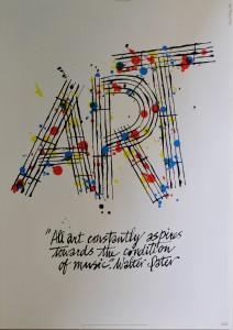 Art IBM, firmado, con frase de Walter Pater, 84x60 cms. 30 (6)