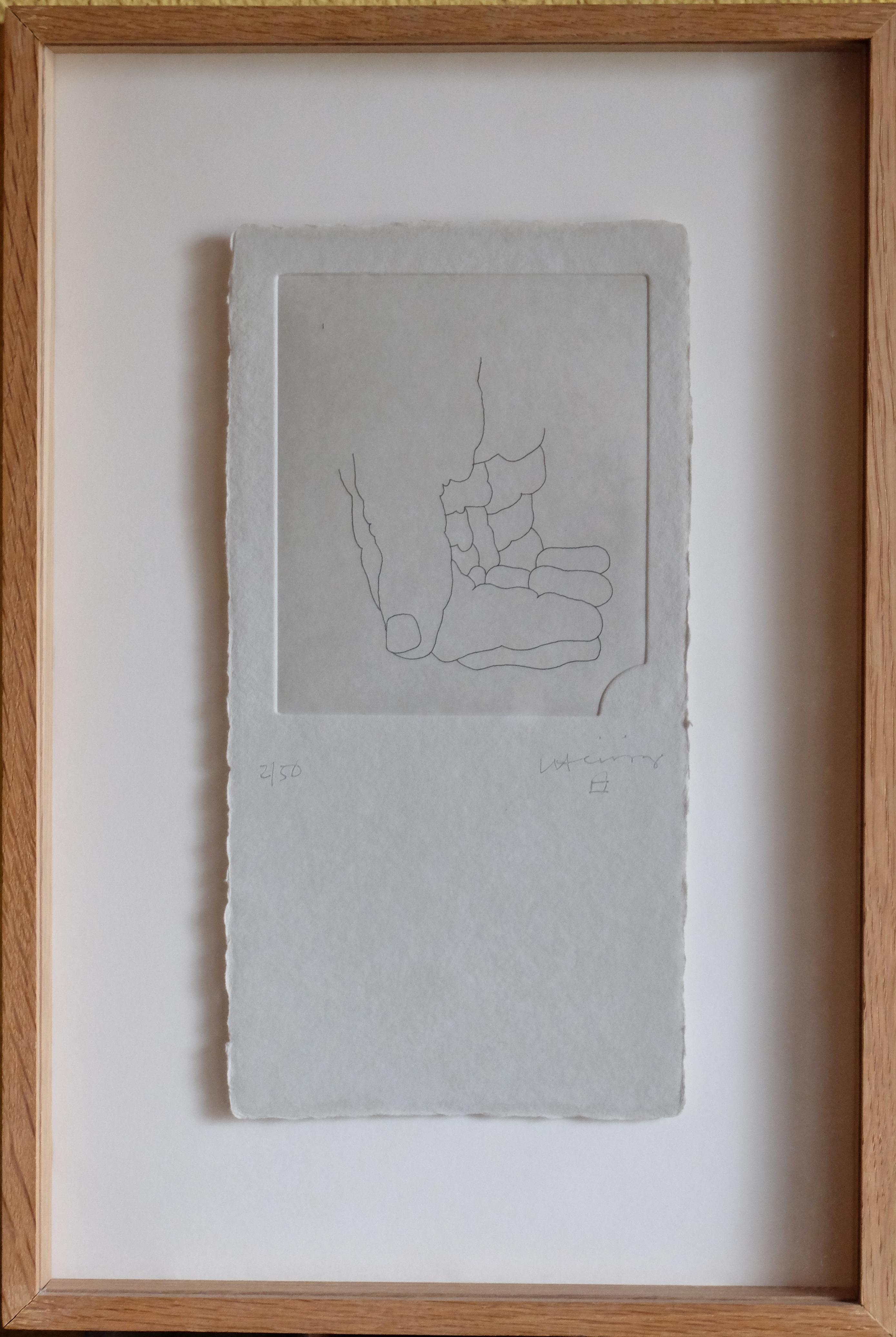 """Eduardo Chillida – """"Mano"""" grabado, enmarcado – El Marco Verde – Obra ..."""