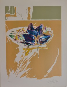 Domingo Manuel bodegón con higos,  serigrafía edic 60 ejempl. 65x50 cms. 90 (1)