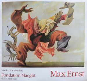 Erns Max, cartel original exposición en la Fondation Maeght en 1983, 60x65 cms. 30 (3)