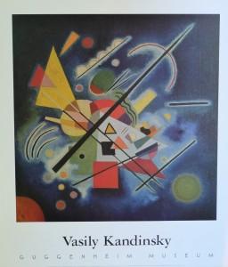 Kandinsky Vasily, Blue painting, cartel original exposición ene l Guggenheim Museum New York, 76x66 cms. 26 (3)