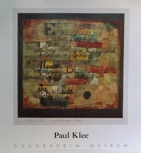 Klee Paul, From the song of songs, cartel original exposición en el Guggenheim Museum, 72x66 cms. 22 (5)