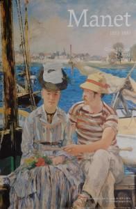 Manet Edouard, Argenteuil, detail, cartel original exposición en Grand Palais, 60x40 26 (2)