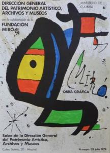 Miró Joan cartel litográfico Ministerio de Cultura - obra gráfica 70x51 cms  (2)