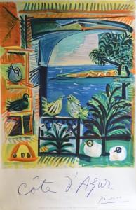 Picasso Pablo, cartel original edición litográfica promoción Costa Azul, 99x66 cms. 260 (1)