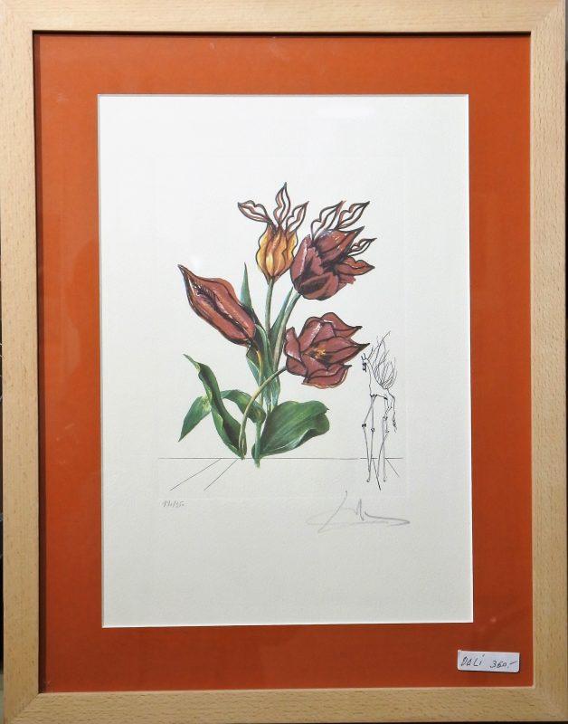 """Salvador Dali – """"Flores surrealistas con caballo"""" enmarcado – El ..."""