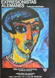 Jawlensky Alexei von, cartel original exposición Expresionistas alemanes en la Biblioteca Nacional, 96x68 cms. 16 (1)