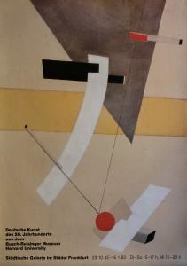 Lissitzky Lazar, Proun 12E, cartel original exxposición Deutche Kunst Städe Frankfurt, 84x55 cms. 22 (2)