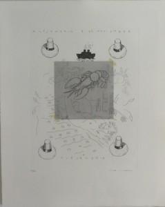 Bellver Fernando, Alejandría, serie Los apuntes del viajero, grabado, edición 69 ejemplares titulado, numerado y firmado a lápiz, papel 46x37 cms. y marco 59x50 cms (21)