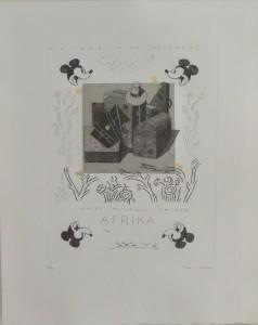 Bellver Fernando, Nairobi, serie Los apuntes del viajero, grabado, edición 69 ejemplares titulado, numerado y firmado a lápiz, papel 46x37 cms. y marco 59x50 cms (10)