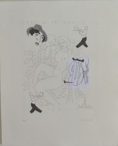 Bellver Fernando, París, serie  Los apuntes del viajero, grabado, edición 69 ejemplares titulado, numerado y firmado a lápiz, papel 46x37 cms. y marco 59x50 cms (35)
