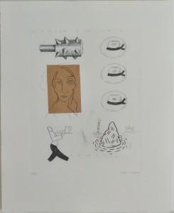 Bellver Fernando, Venecia, serie Los apuntes del viajero, grabado, edición 69 ejemplares titulado, numerado y firmado a lápiz, papel 46x37 cms. y marco 59x50 cms (11)