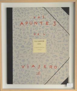 Bellver Fernando, carpeta, Los apuntes del viajero, edición 69 ejemplares numerado a lápiz, enmarcado, 59x50 cms (1)