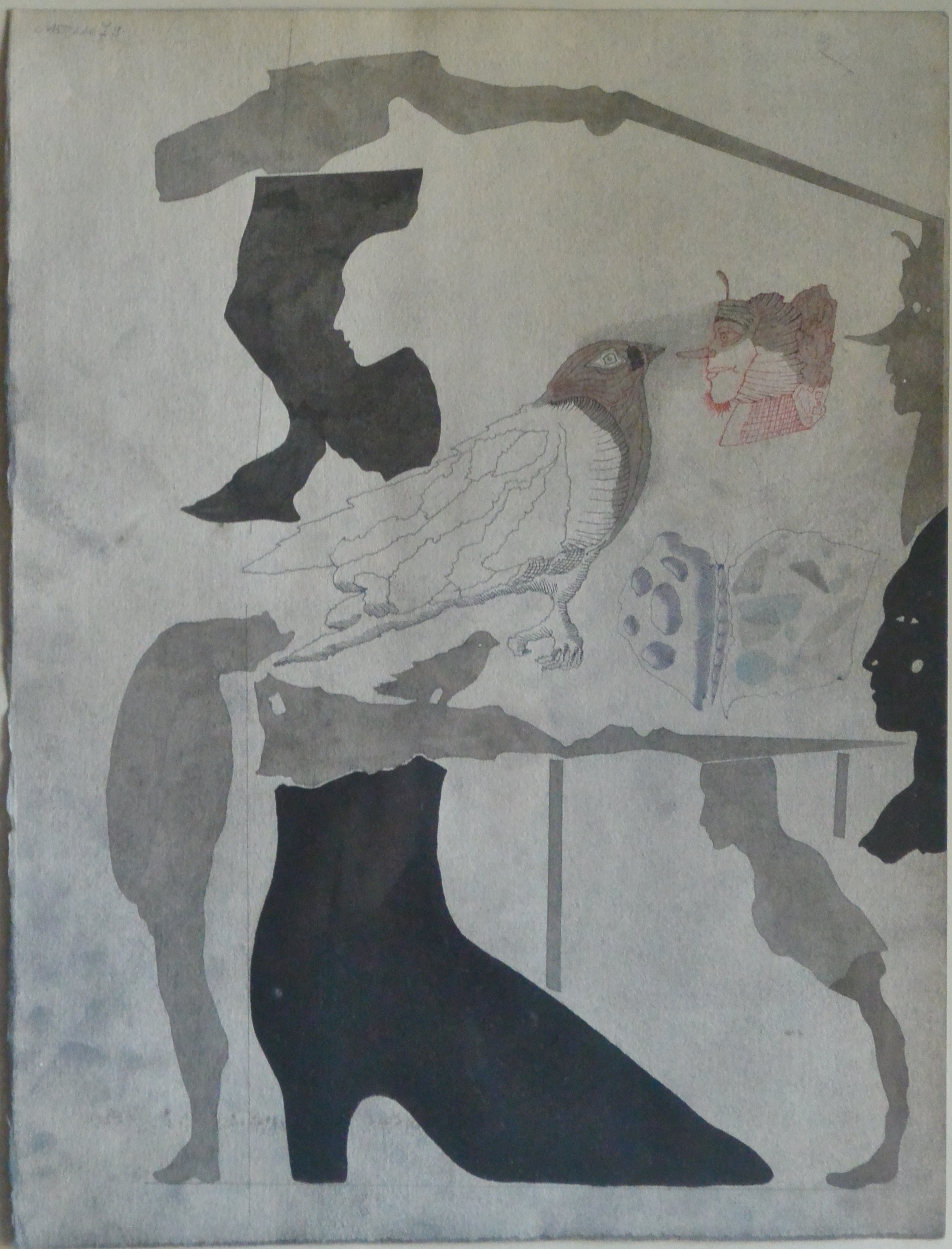 "Jorge Castillo – ""Zapato negro"" dibujo tinta china – El Marco Verde ..."