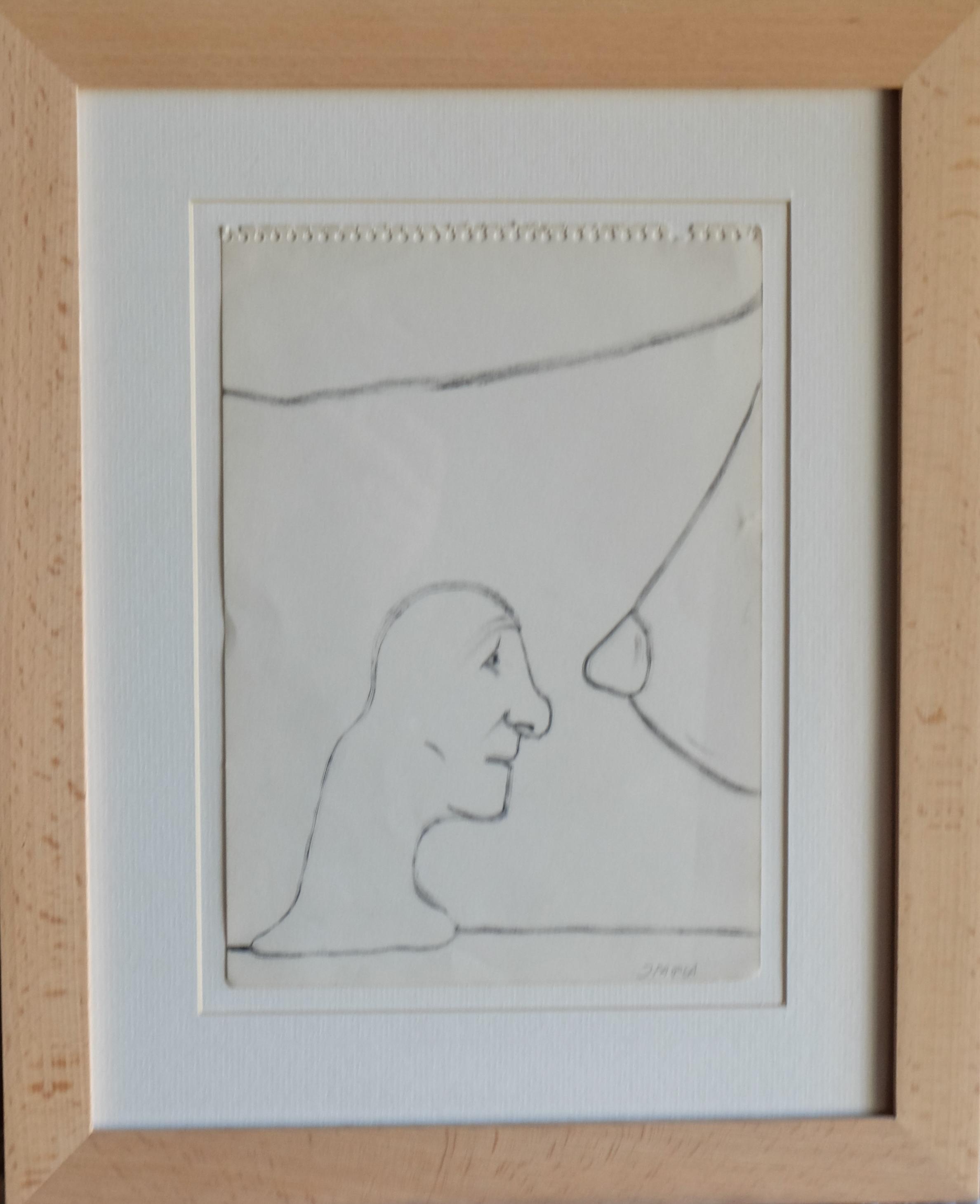 """Javier Pagola – """"Mirando el seno"""" dibujo tinta – El Marco Verde ..."""