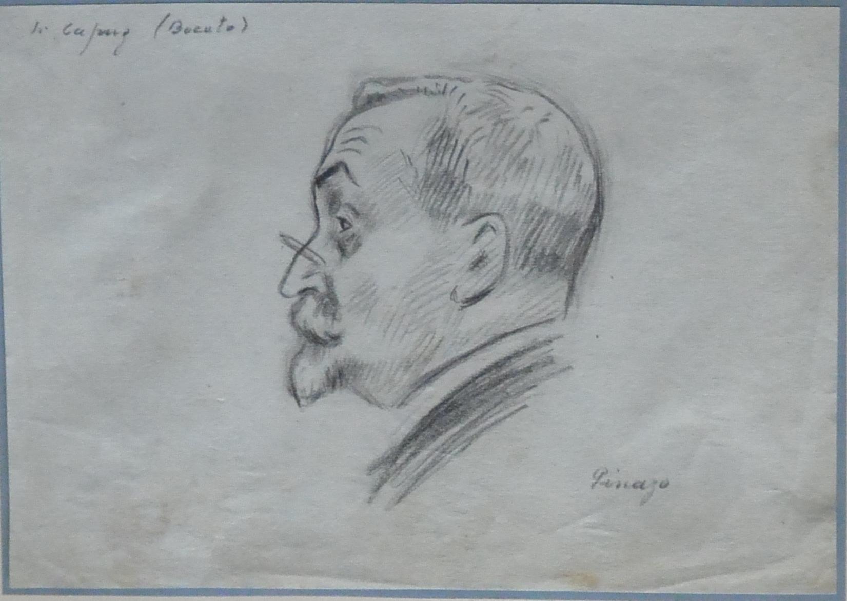 «Cabeza Hombre Perfil» Dibujo