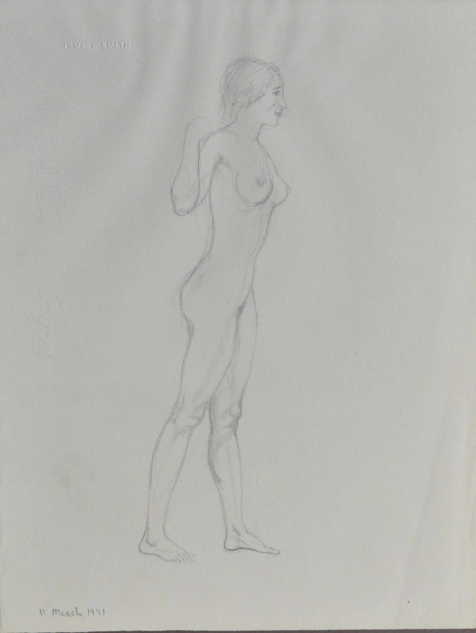 "Ismael Smith – ""Desnudo femenino"" dibujo lápiz – El Marco Verde ..."