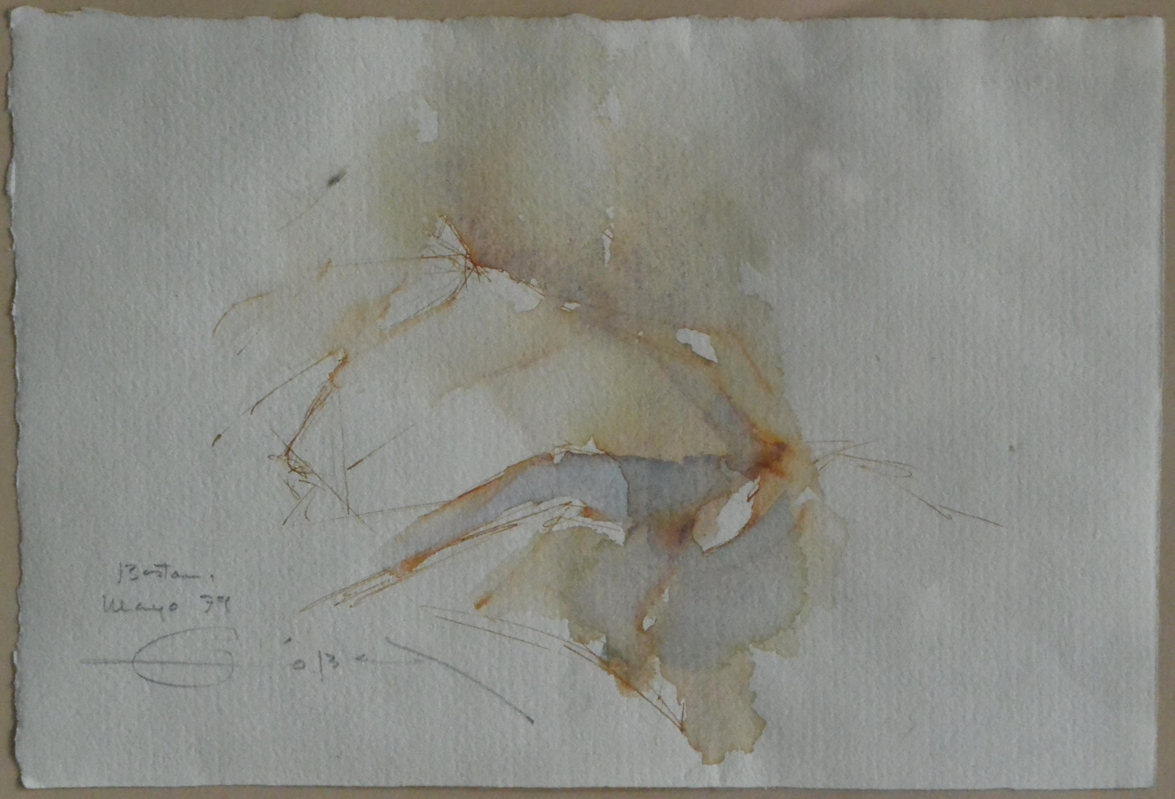 """Fernando Zobel – """"Composición"""" acuarela papel, enmarcado – El Marco ..."""