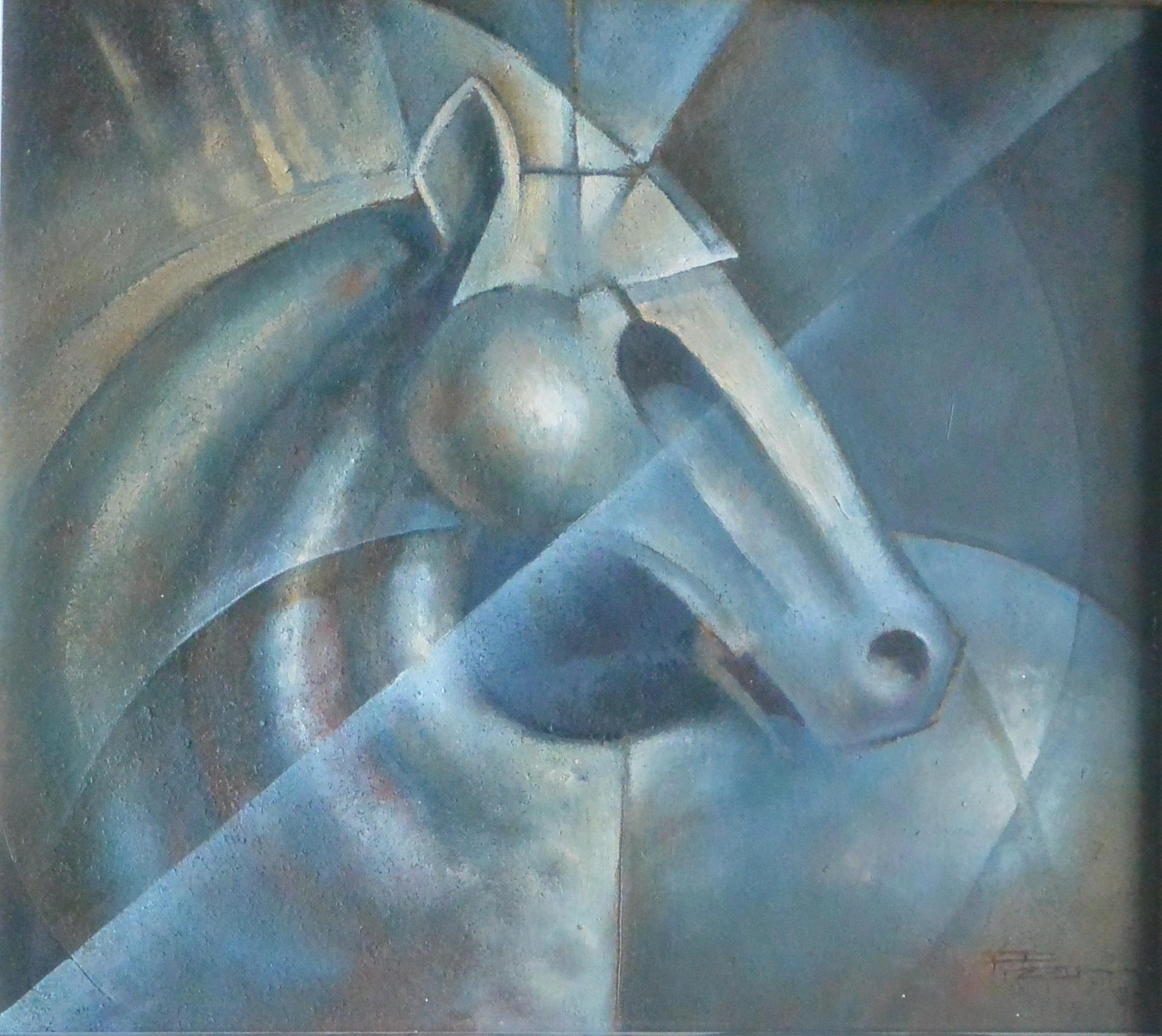 """Roberto L. Pizarro – """"Cabeza de caballo"""" oleo madera, enmarcado – El ..."""