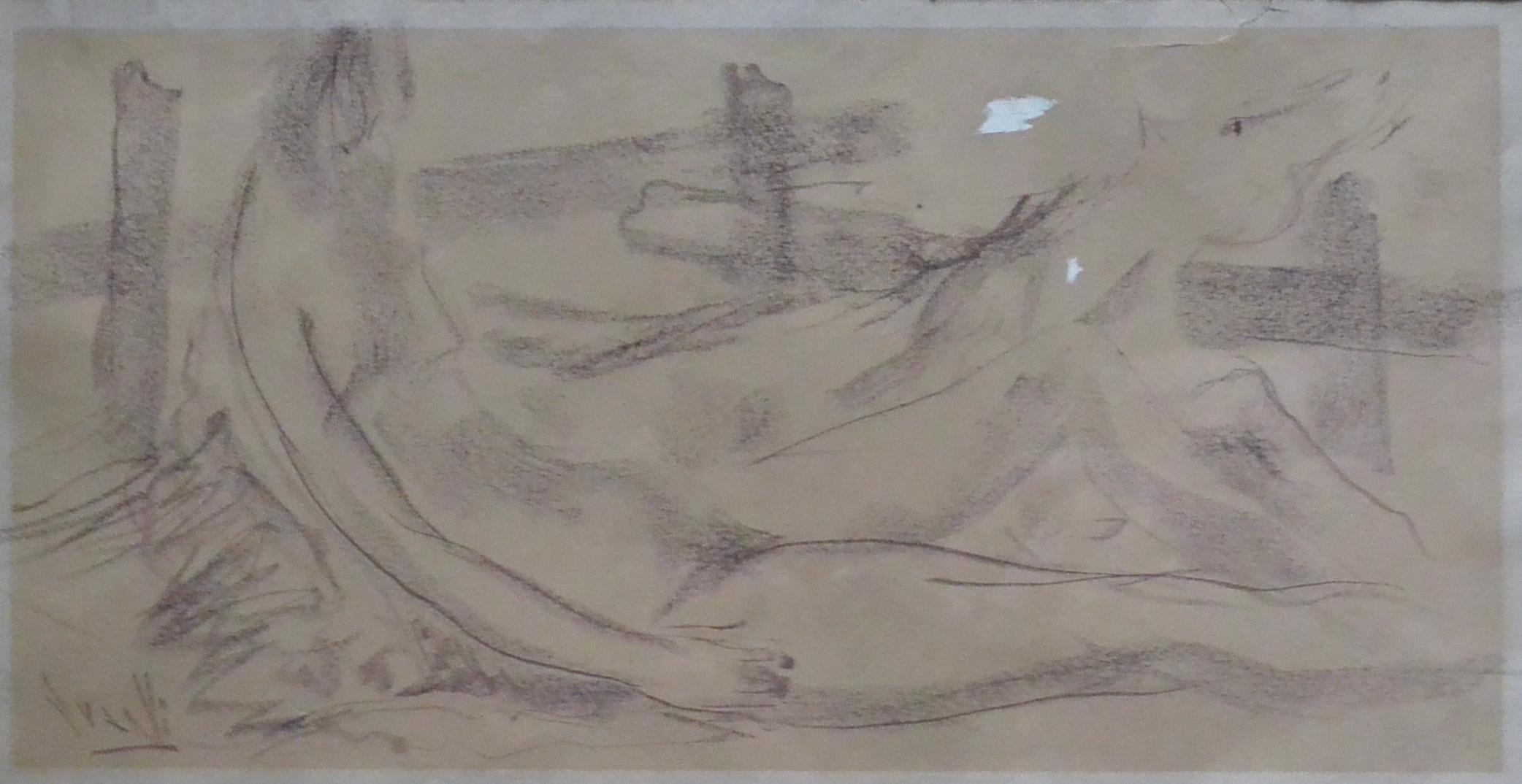 """Juanvi, Juan Vicente Barrio – """"Caida del caballo"""" dibujo carboncillo ..."""