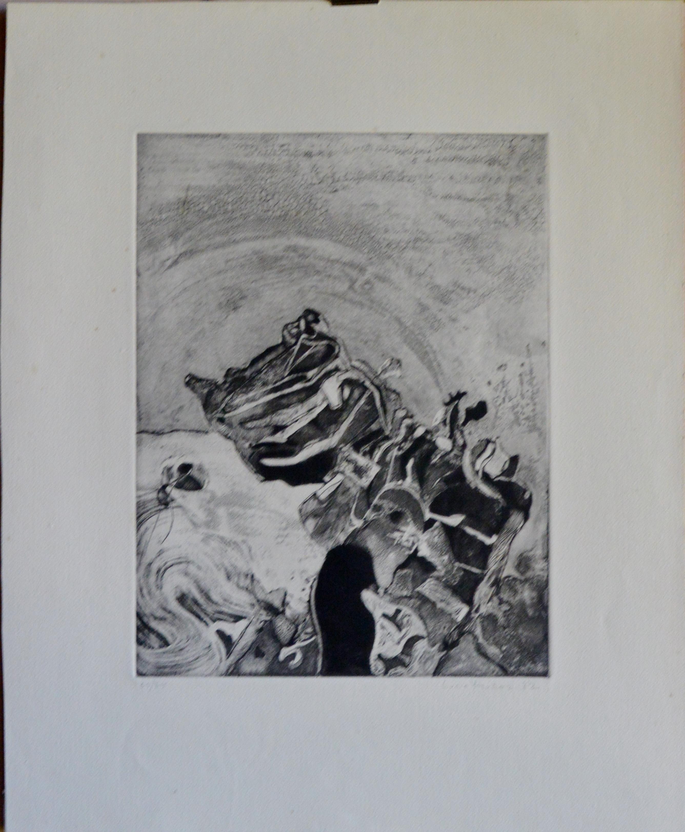"""Lucio Muñoz – """"Sin título"""" grabado – El Marco Verde – Obra Gráfica ..."""
