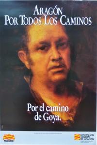 Goya Francisco de, autorretrato, cartel promocional de Aragón, 61x42 cms. 12-9 (1)