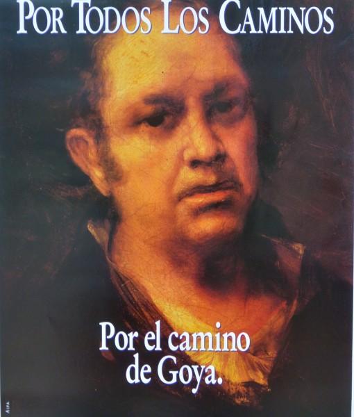 Goya Francisco de, autorretrato, cartel promocional de Aragón, 61×42 cms. 12-9 (1)