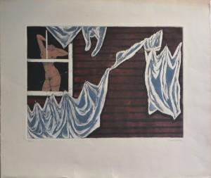 Hochberg A. A. Washday patterns, grabado, edición 90 ejemplares, numerado y firmado a lápiz, huella 32x45 cms. y papel 52,50x61 cms.360 (6)