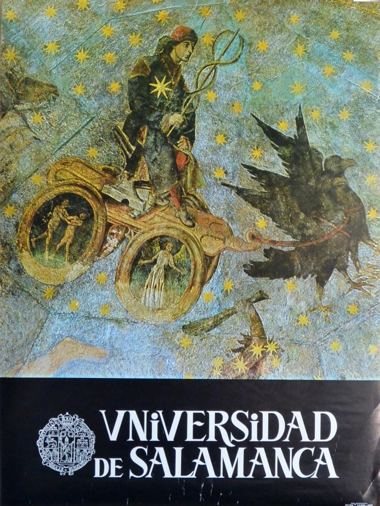 Gallego Fernando, El cielo de Salamanca, fragmento, cartel realizado por la Universidad de Salamanca, 65×48 cms (3)
