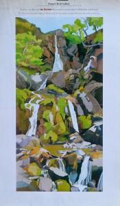 Francis Kyle Gallery London, Ian Gardner, cartel original exposición en 1981, 72x42 cms (4)