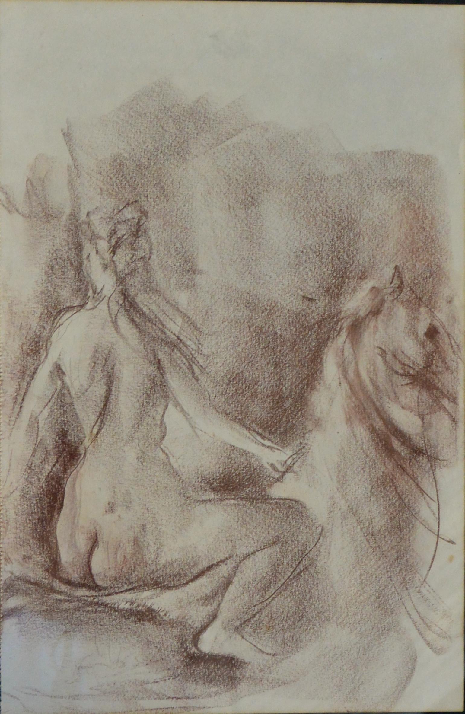 "Juanvi, Juan Vicente Barrio – ""Joven desnuda a caballo"" dibujo ..."