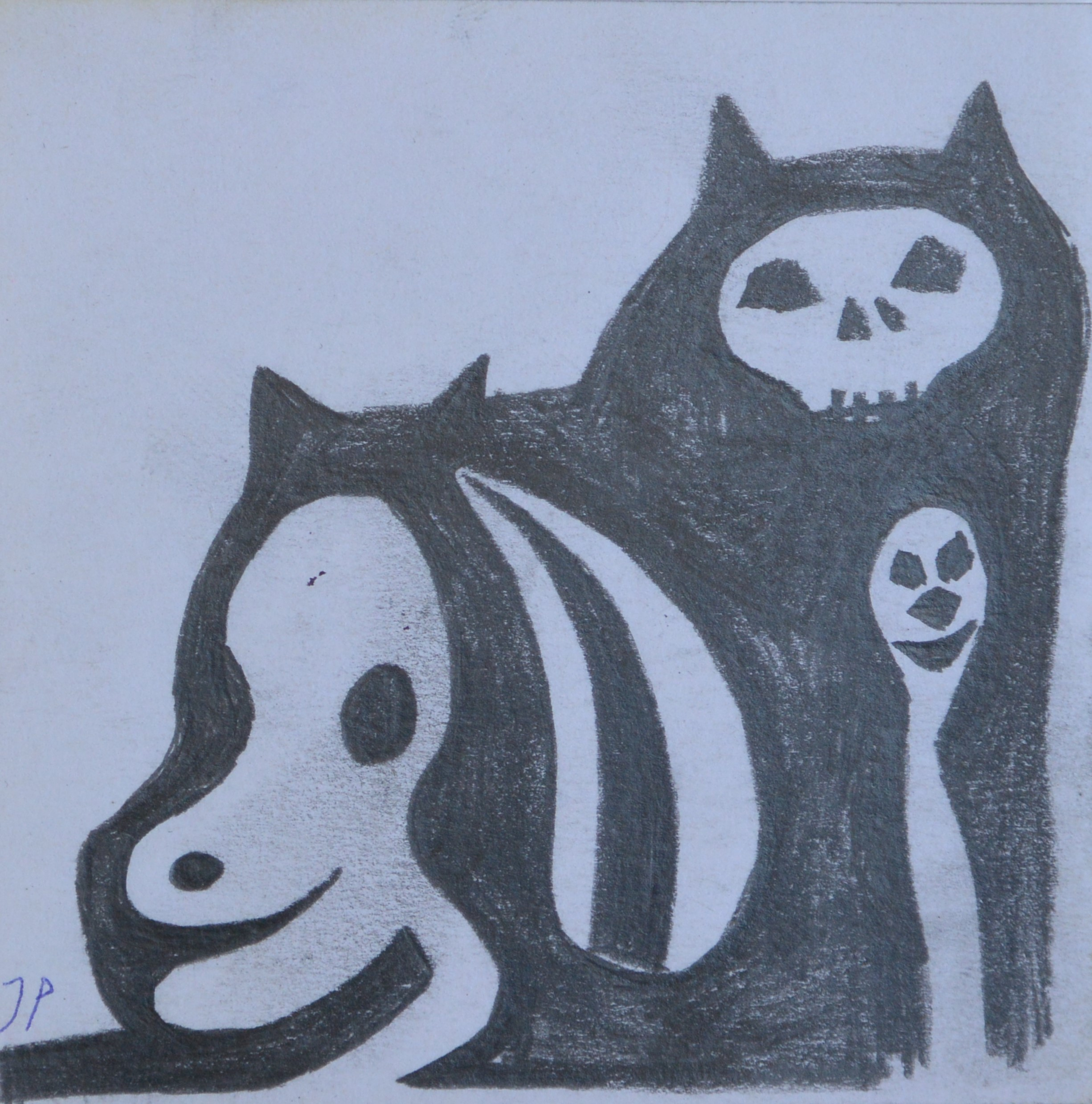 "Javier Pagola – ""Personajes en las sombras"" dibujo lápiz papel ..."