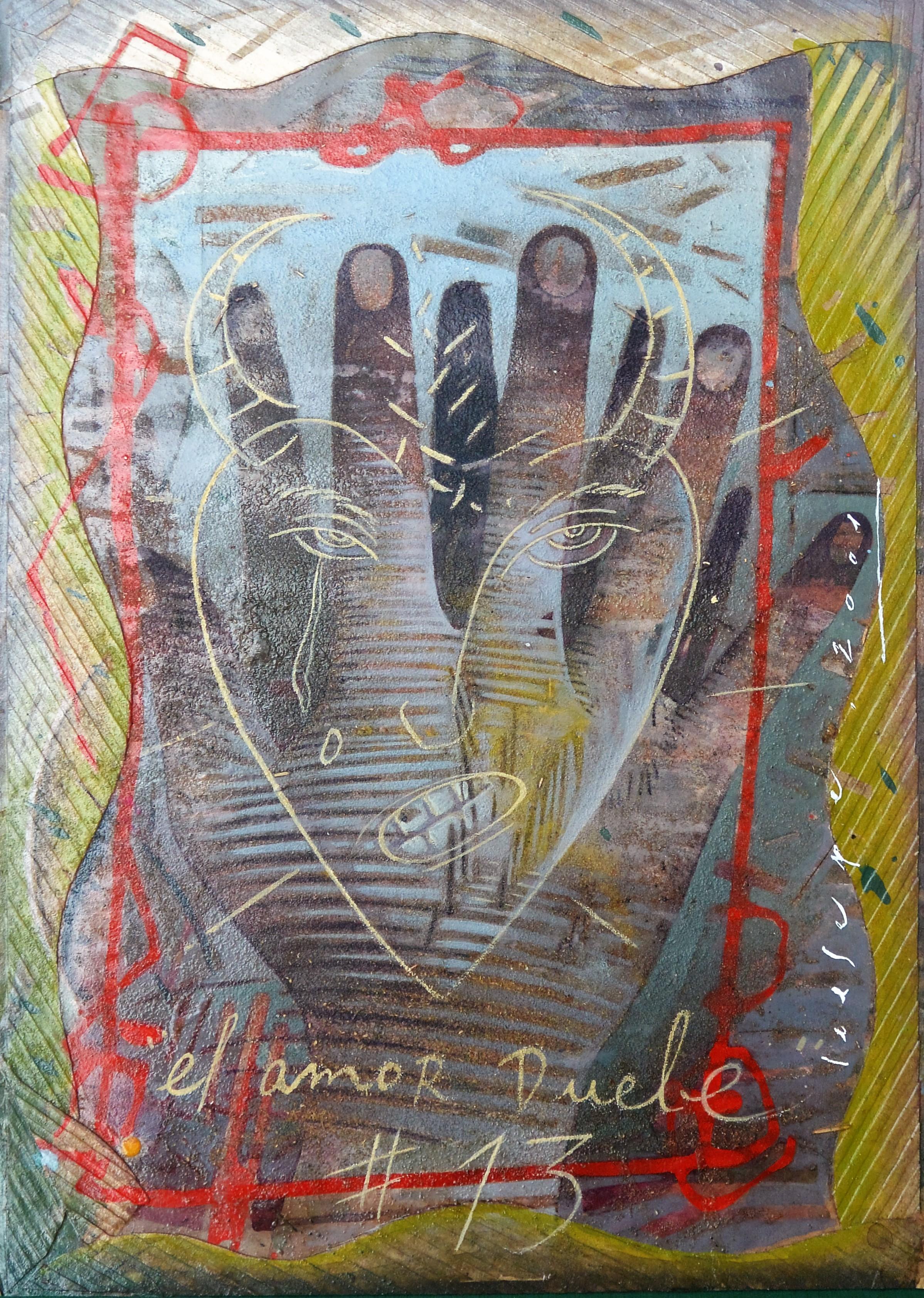 "Ceesepe – ""El amor duele # 13"" dibujo técnica mixta y collage ..."