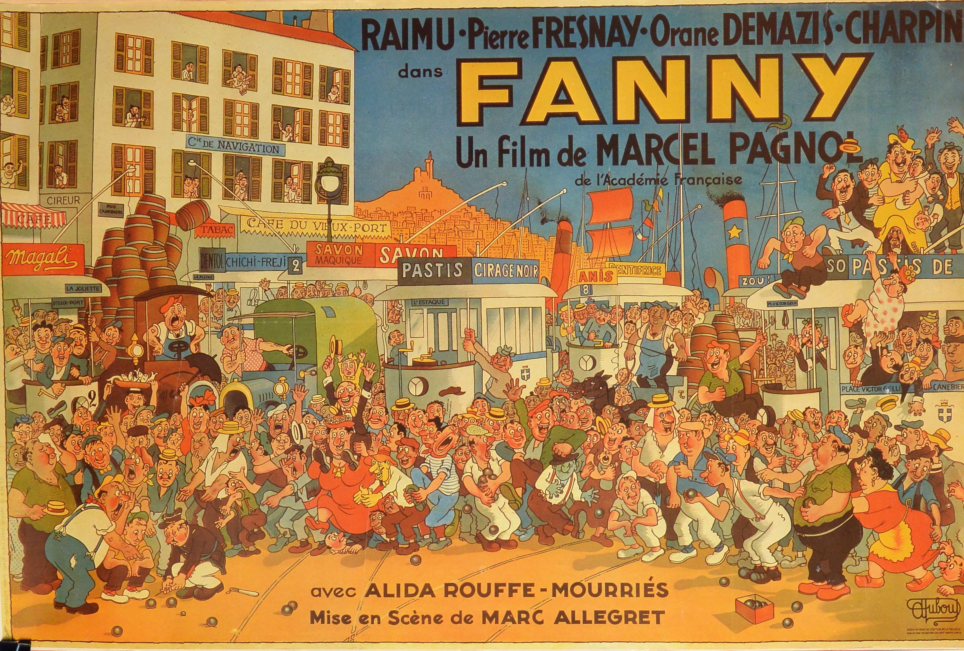 """Albert Dubout – """"Fanny"""" cartel original película – El Marco Verde ..."""