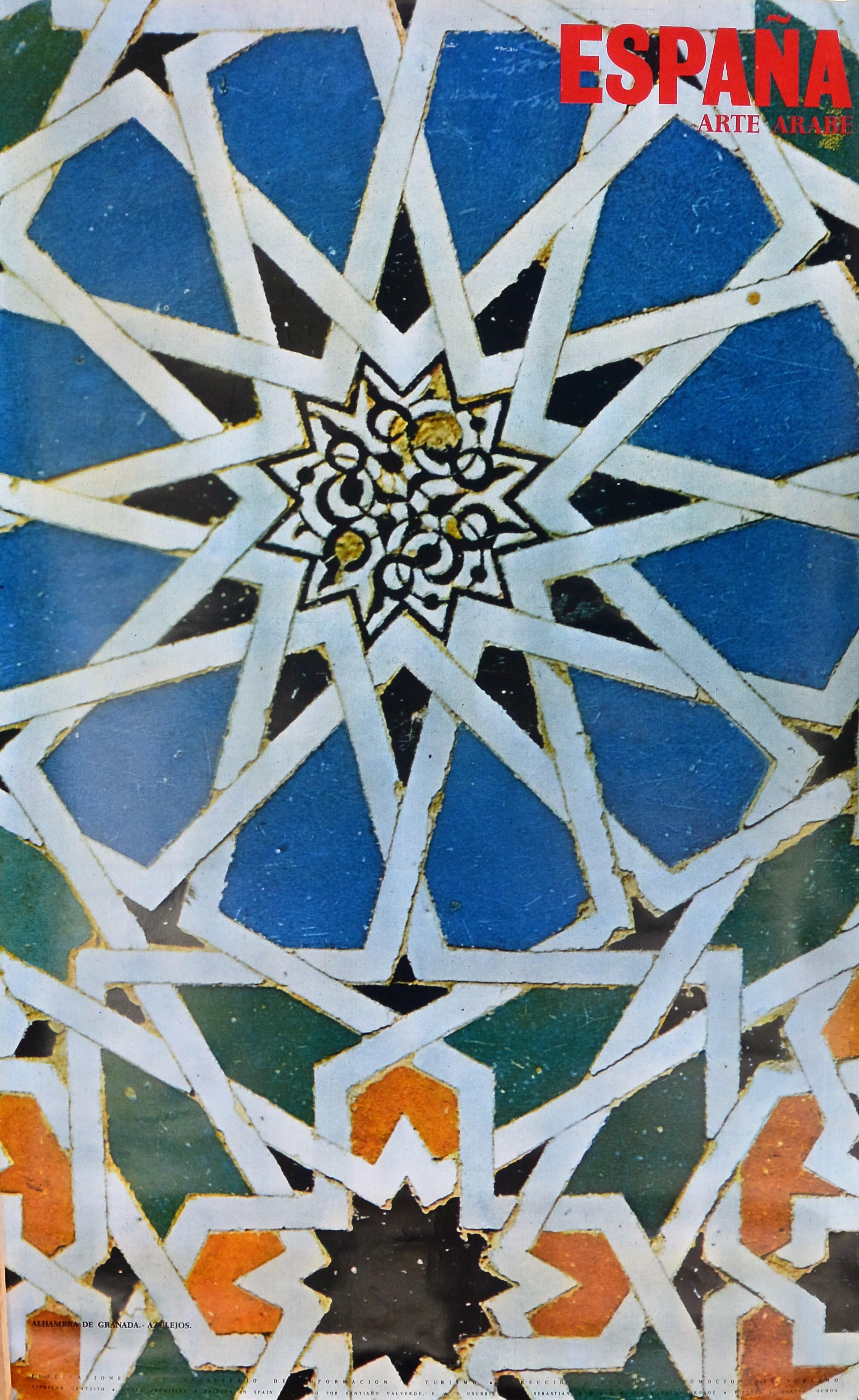 Espa a arte rabe azulejos de la alhambra granada cartel promoci n tur stica el marco - Catalogo conforama granada 2016 ...
